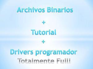 Archivos Binarios + Solucion Luces Y Pantalla Negra +drivers