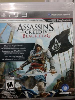 Assassin's creed lV black flag usado ps3 fisico