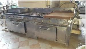 Cocina Industrial 6 Hornallas Con Horno Doble