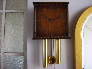 Gran Reloj Aleman Hermle A Pendulo Y Pesas.espectacular!
