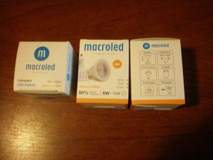 Lampara Dicroica Led 6w Macroled Gu v Blanco Calido