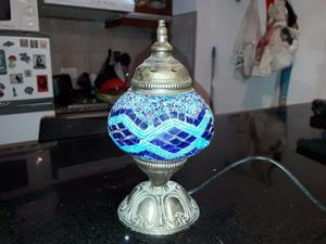Lampara de Venecitas Azul Estilo Antigua