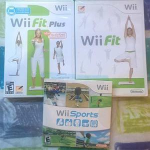 Nintendo Wii + Wii Fit Balance Board Con Accesorios Y Juegos