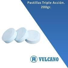 Pastillas De Cloro Triple Accion Vulcano (vulclor) X 10 Kg.
