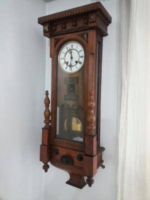 Reloj Antiguo Pared Pendulo Con Fecha