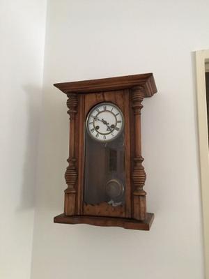 Reloj artesanal pared pendulo totalmente de posot class - Reloj pegado pared ...