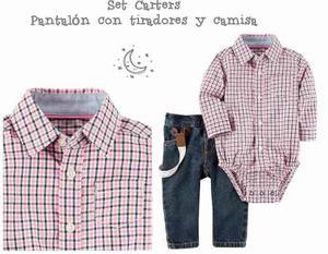 Set Camisa Y Pantalón Con Tiradores Carters - Bebé Niño