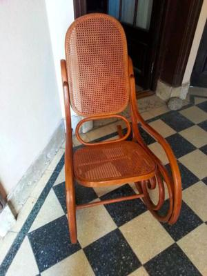 Silla Mecedora Movil Estilo Thonet Fines S.xix Excelente