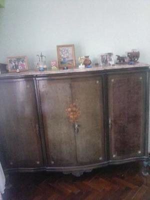 antiguo bahiut cristalero vajillero estilo frances luis xv