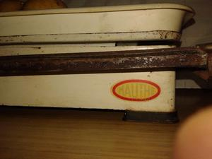 balanza de bandeja10,5kg familiar. marca mauthe$650