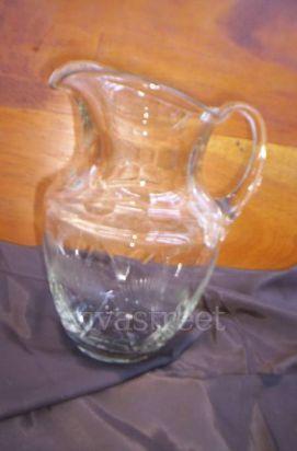 jarra para jugos de vidrio tallado alto 25cm