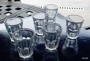 6 VASOS DE BOLICHE MADE IN INDONESIA SE VENDE EL LOTE DE 6