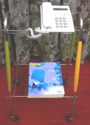 Mesa auxiliar para teléfono con ruedas