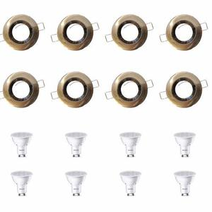 Pack X10 Embutido Niquel Philips Con Dicroica Led 5w-50w