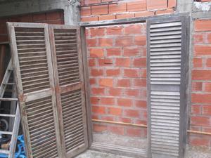 Puerta ventana balcon de madera 2 hojas posot class for Puerta balcon