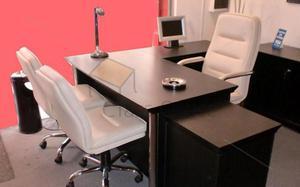 conjunto de escritorio gerencial para oficina - despacho -