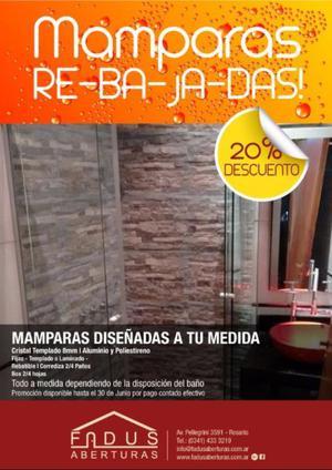 En Junio seguimos de REBAJA!!! MAMPARAS -20%