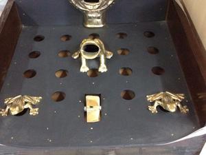 Juego de sapo de bronce