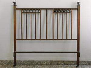 Respaldo cama de bronce 2 plazas