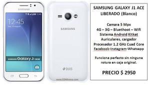 Samsung Galaxy Ace J1 Color blanco liberado