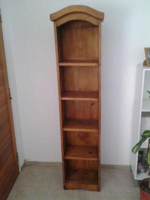 Biblioteca vertical, de pié, de madera, 1,81mt x 40cm x