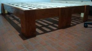 Cama dos plazas madera c rdoba posot class for Cama dos plazas