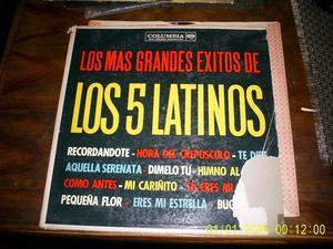disco LP vinilo Los 5 Latinos