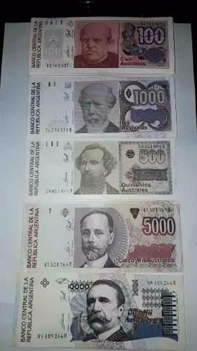 134 Billetes Australes Sin Circular  Y Más