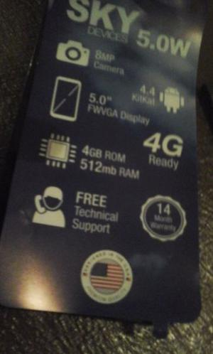 Sky 5.0w 4g Quad Core 1.3 Ghz 8mpx + 2mpx 4gb 5' Libre