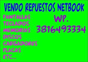 VENDO REPUESTOS DE NETBOOK!!!!!