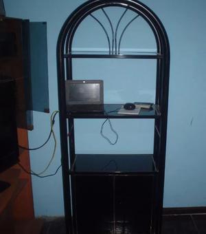 modular de caño y vidrio con puertas