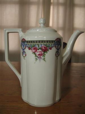 Cafetera-tetera +azucarera Porcelana Koenigszelt Silesia