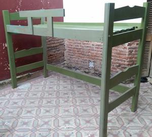 Cama cucheta de madera y colchon sin cama de abajo como se