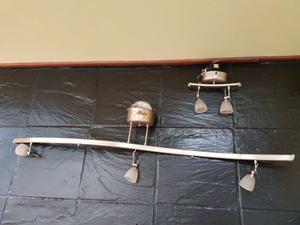 Juego completo de 3 lamparas cromadas