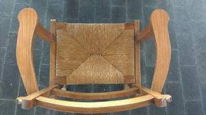 Juego de mesa extensible y sillas de algarrobo