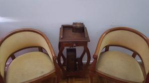 Mesa de Algarrobo y silla