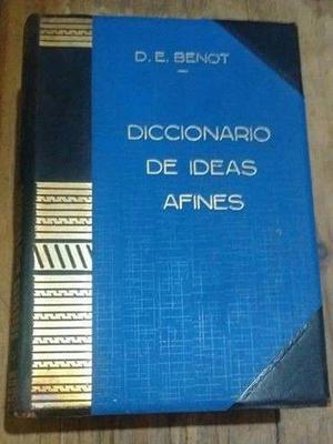 Benot Diccionario De Ideas Afines Y Elementos De Tecnologia