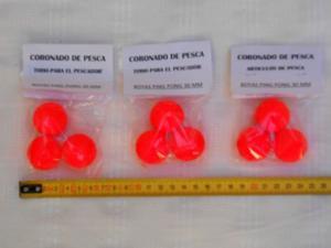 Boyas Ping Pong 30 Mm Pack 3 Unidades - Ideal Pesca Pejerrey