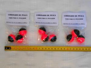 Boyas Yo-yo 25 Mm - Pack 3 Unidades - Ideal Pesca Pejerrey