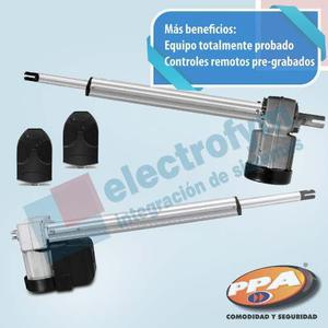 Kit Motor Portón Batiente Pivotante Doble Ppa + Control