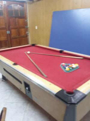 Pool profesional con cancha de ping pong y mesa de comer 25
