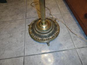 lámpara de pié en bronce macizo