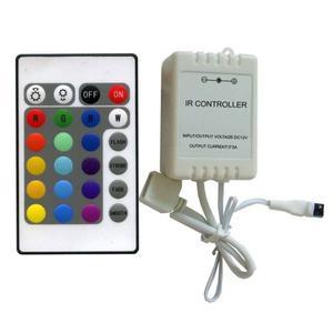 Controladora Tira Led Rgb Control Remoto 24 Teclas - Centro