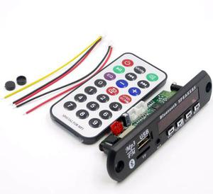 Modulo Reproductor Usb Sd Aux Con Bluetooth Y Control Remoto
