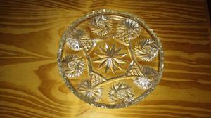 Plato de vidrio tallado, jarra de vidrio 1/2lt