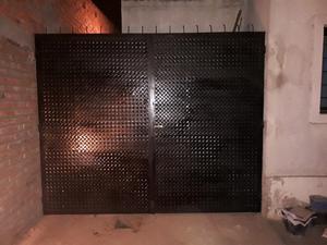 Remato portón doble hoja