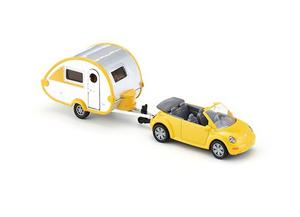 Siku Serie  Vw New Bettle Cabrio + Casa Rodante Metal