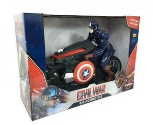 Capitan America Moto A Friccion Original Yellow-arbrex