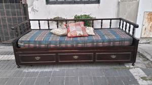 Divan sillon cama de madera maciza de pino posot class for Sillon cama juvenil