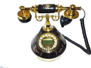 Telefono De Mesa Tipo Porcelana Modelo Vintage Con Flores